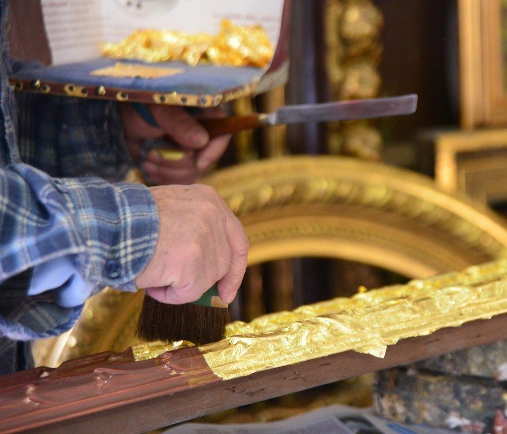 Doratura del legno a torino a foglia e d'argento