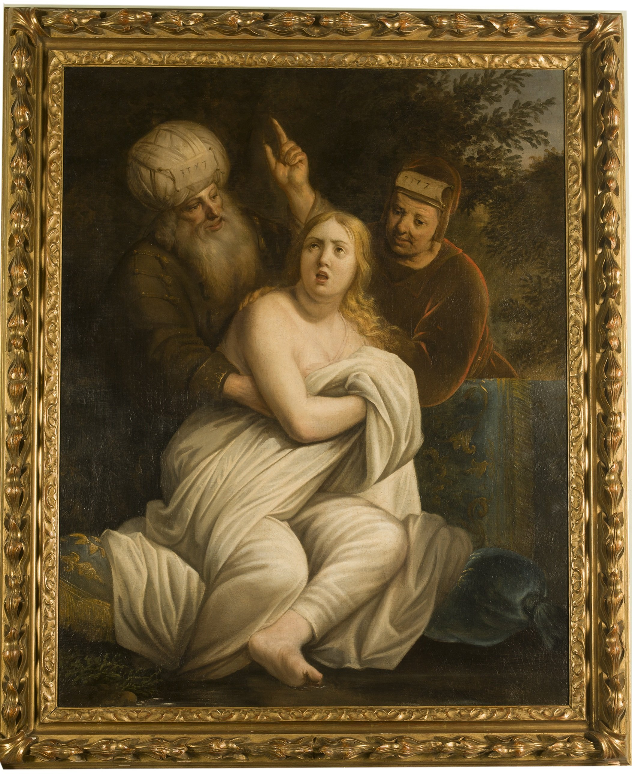 Susanna and the old men - oil on canvas - Contact for price
