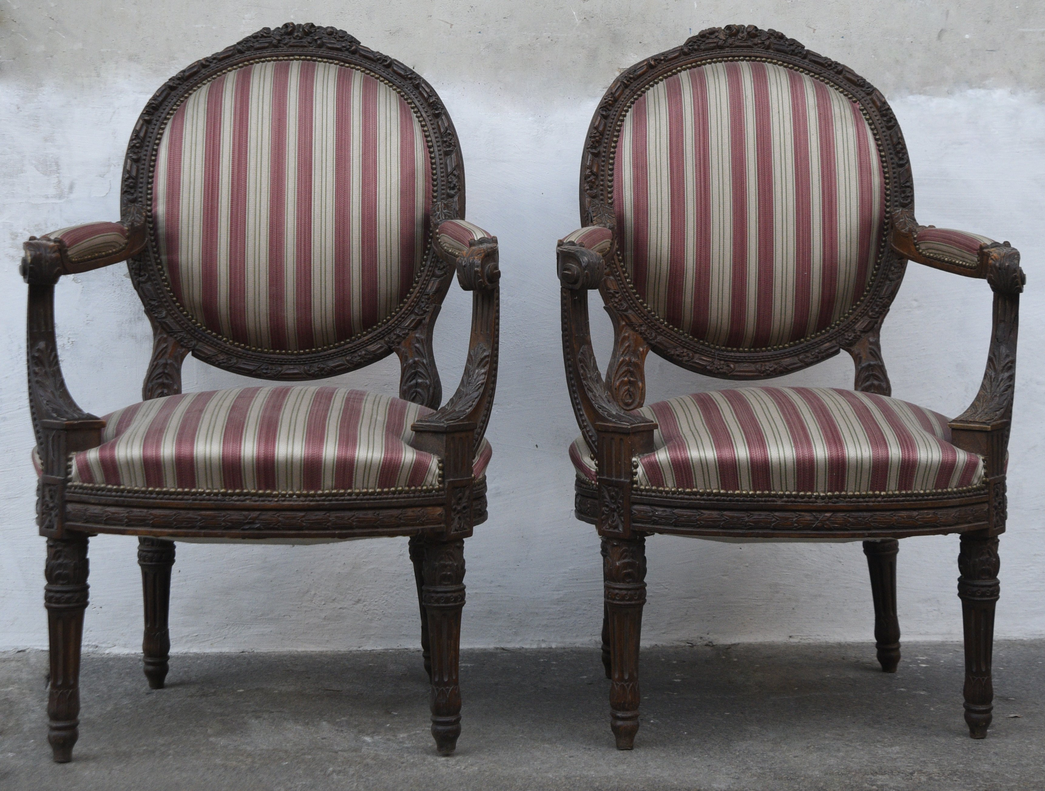 Louis XVI armchairs -  Contact for price