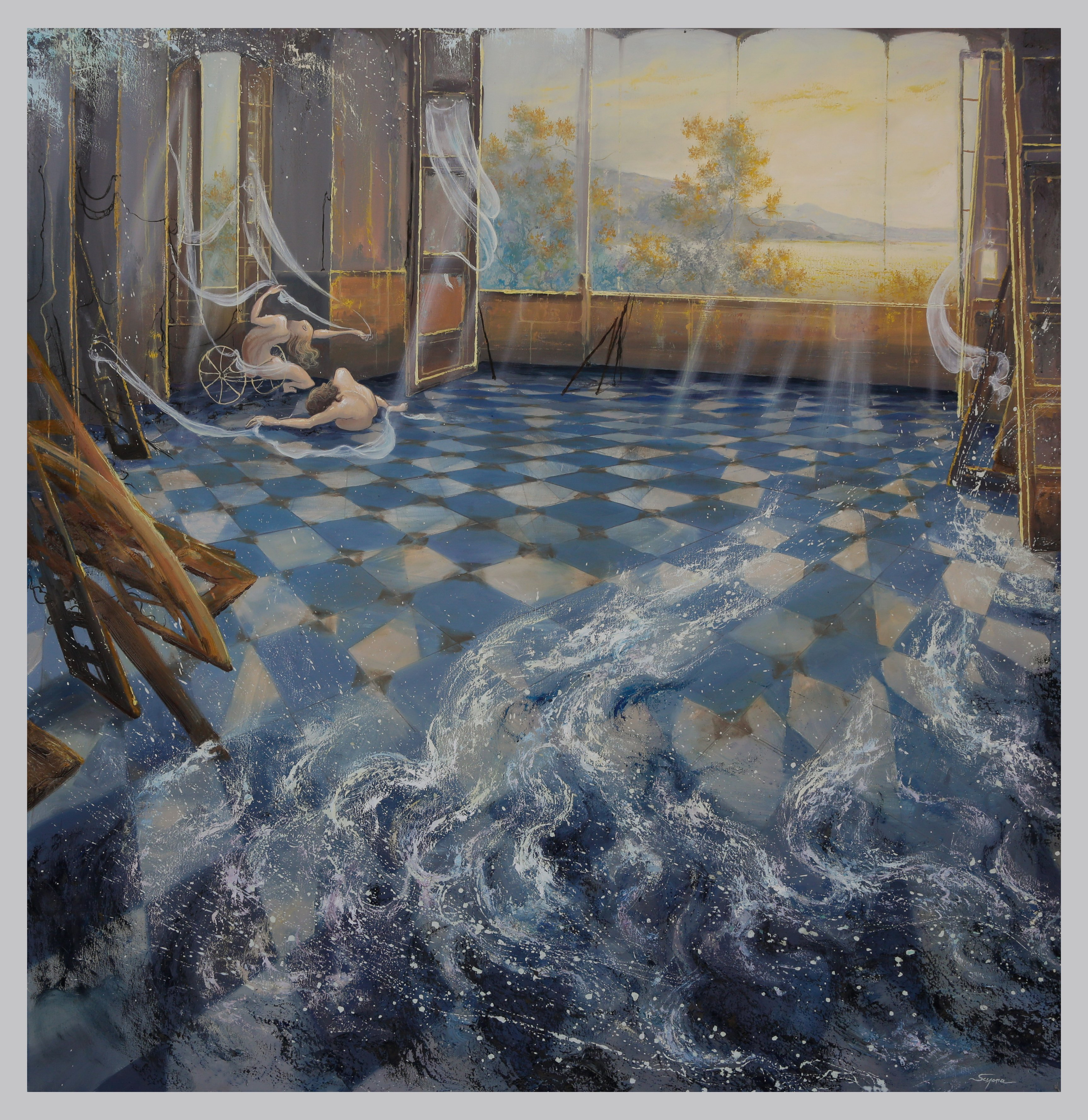Water inside - oil on canvas - Contact for price