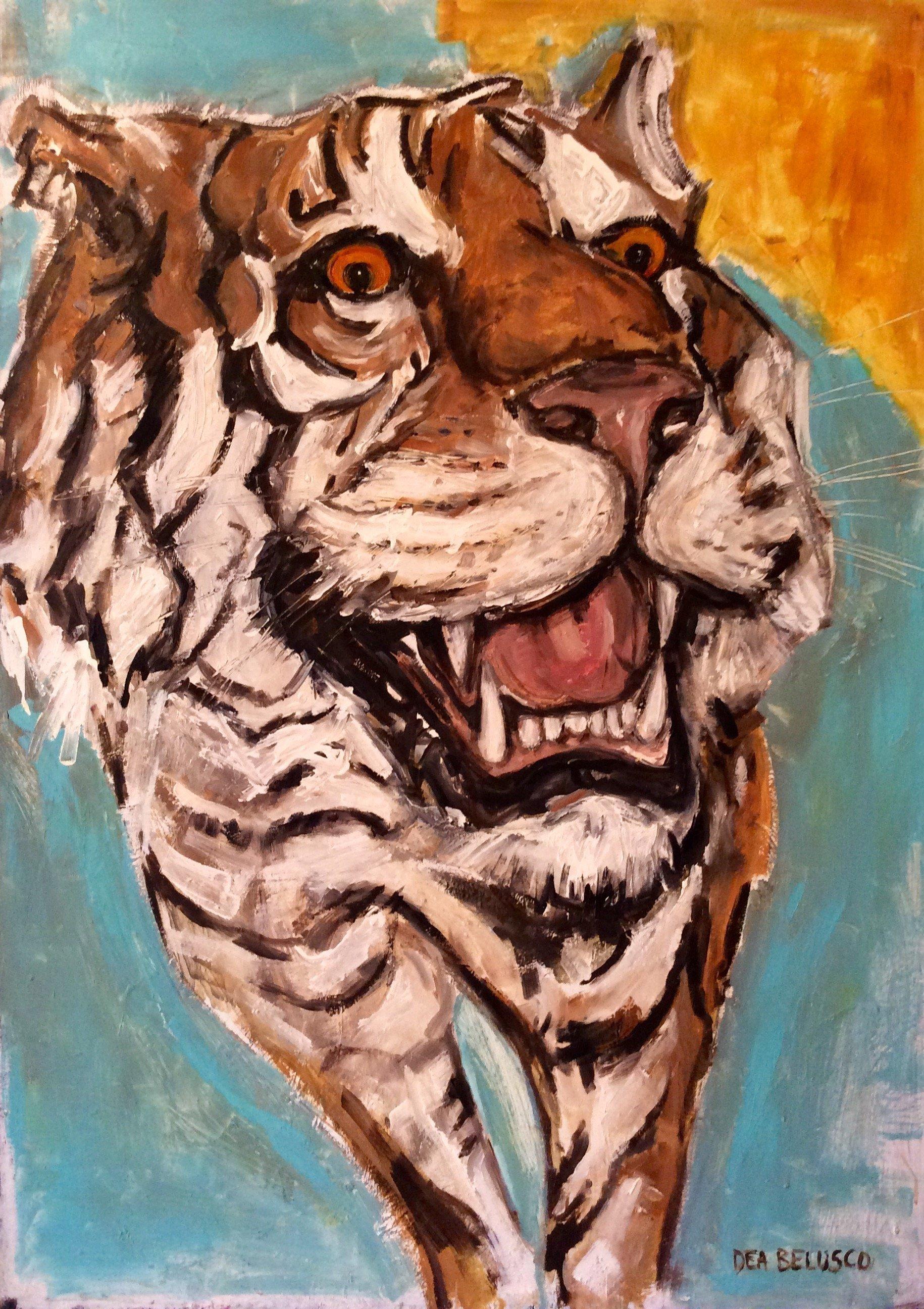 Tigre - Olio su tela - Contattare per il prezzo