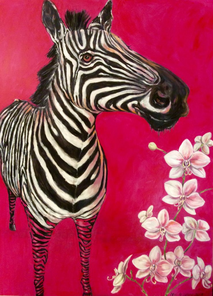 Zebra - Oil on Table - Contact for price
