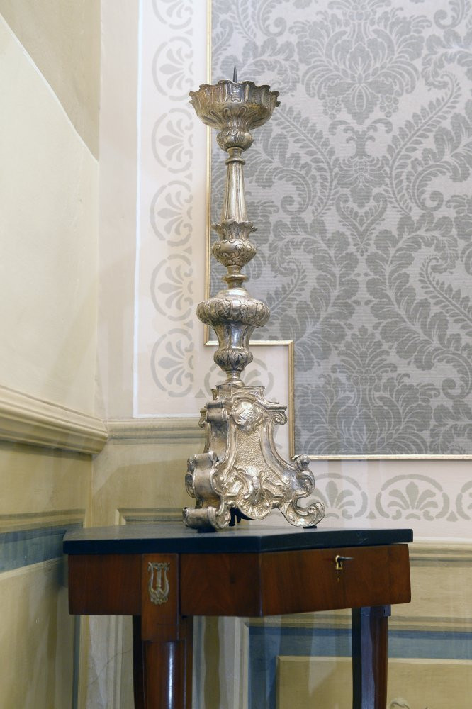Silver Baroque candlestick - Contact for price