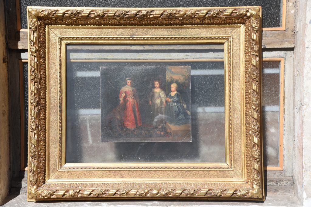 Sons of Charles 1st - oil on cardboard - Contact for price