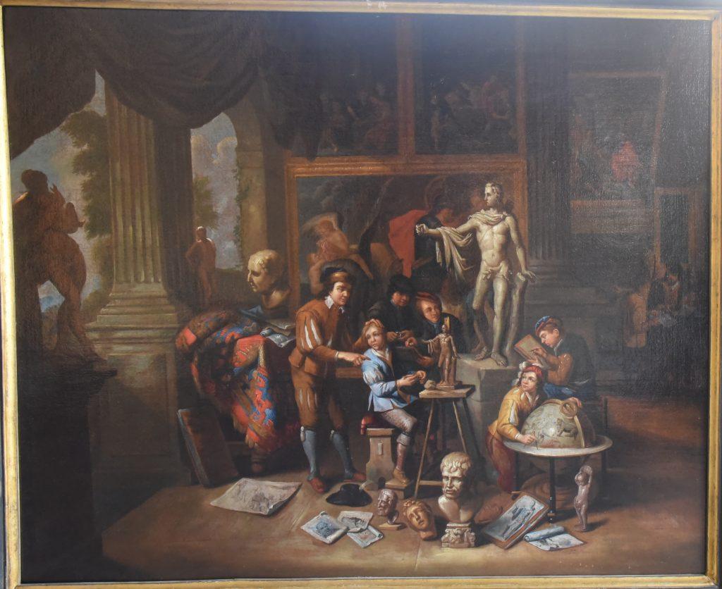La bottega dell'arte -olio su tela - Contattare per il prezzo