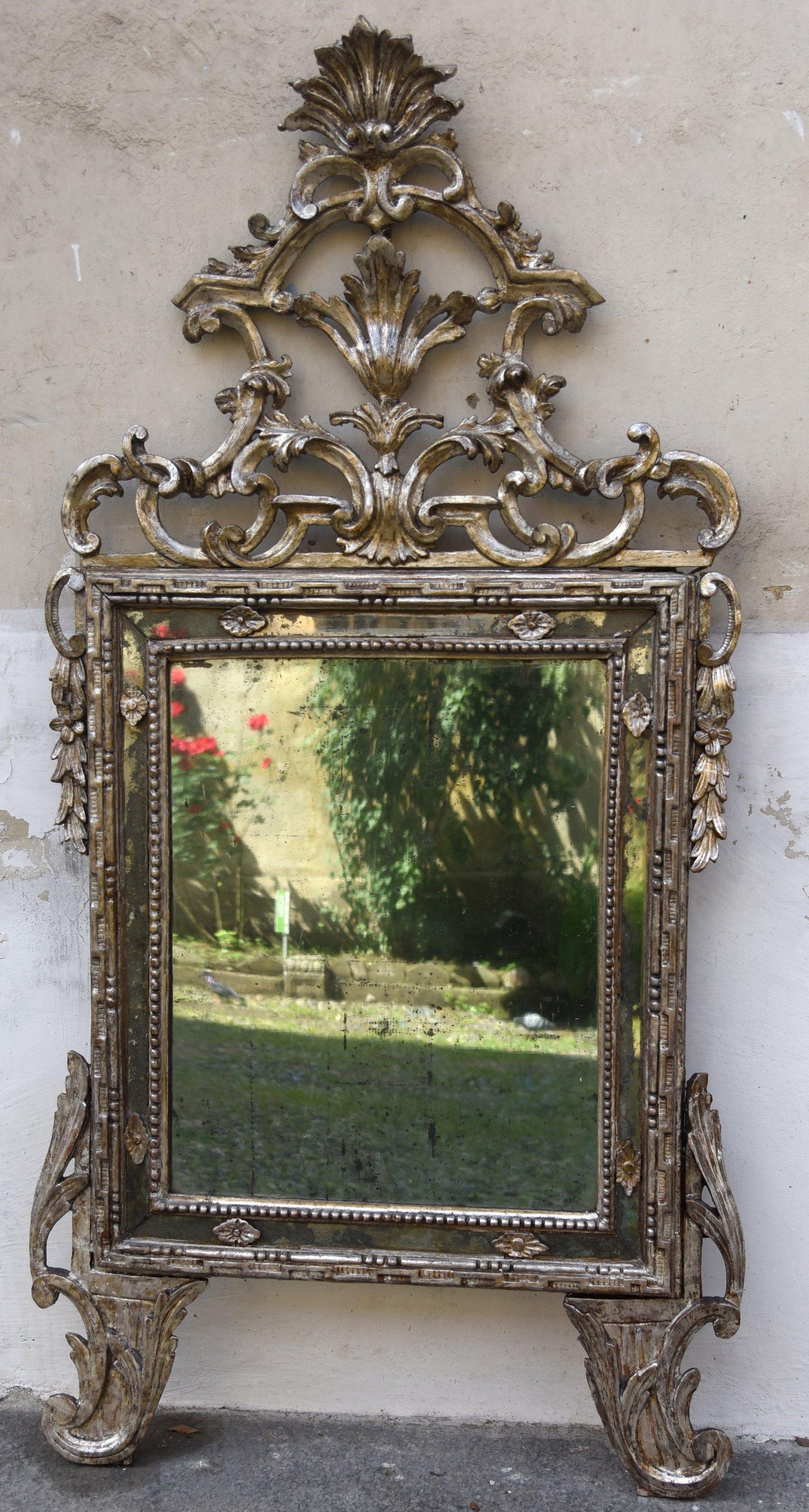 Specchiera Luigi XVI Argentata