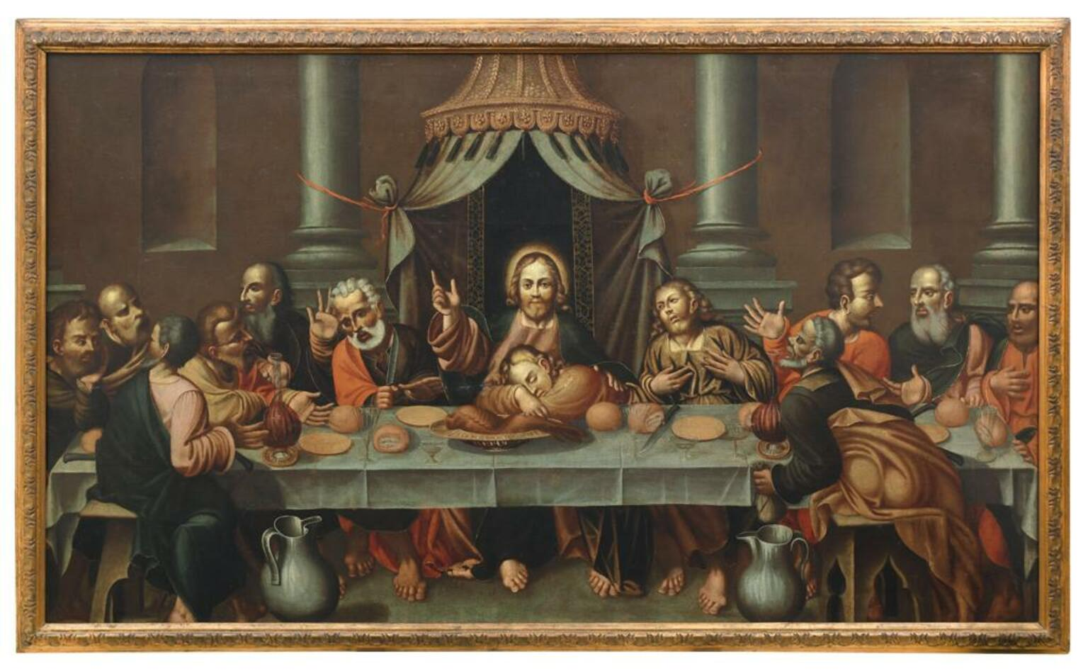 Last Supper - Oil On Canvas
