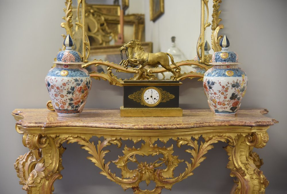 Antica Consolle e Specchiera  in Stile Rococò del XIX secolo