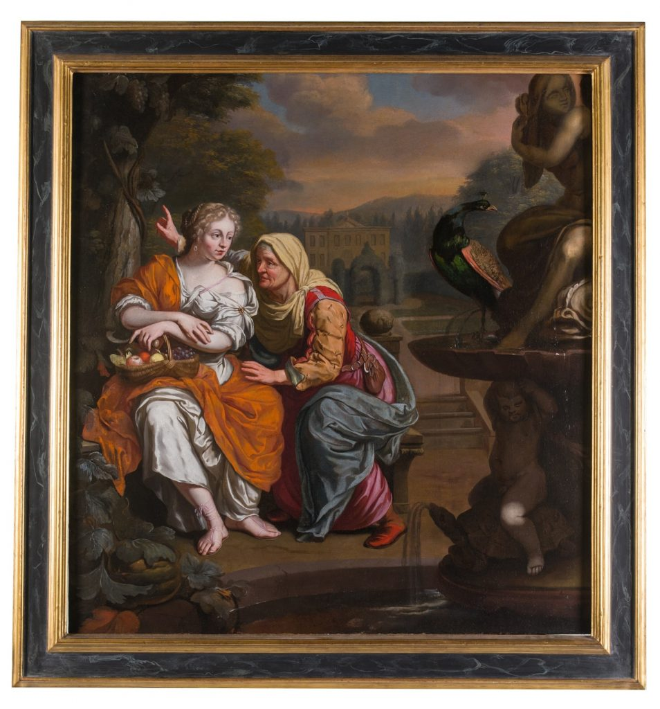 Antico dipinto del XVII secolo