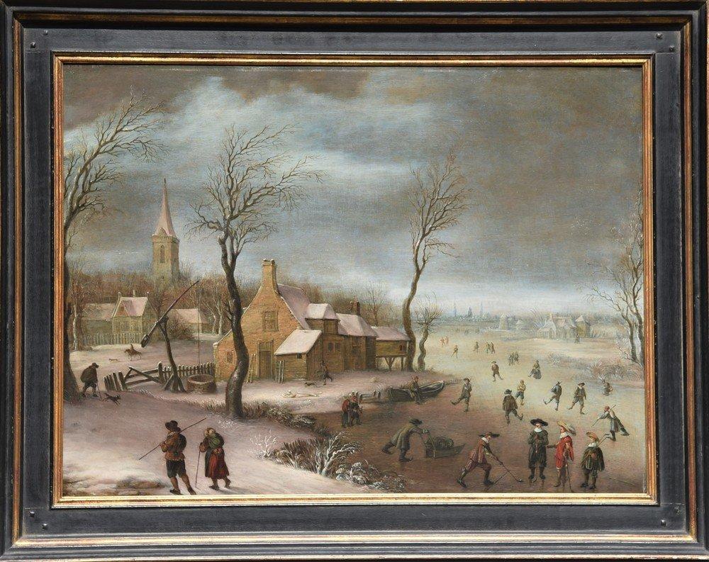 Antico dipinto  della Scuola olandese del XVII secolo