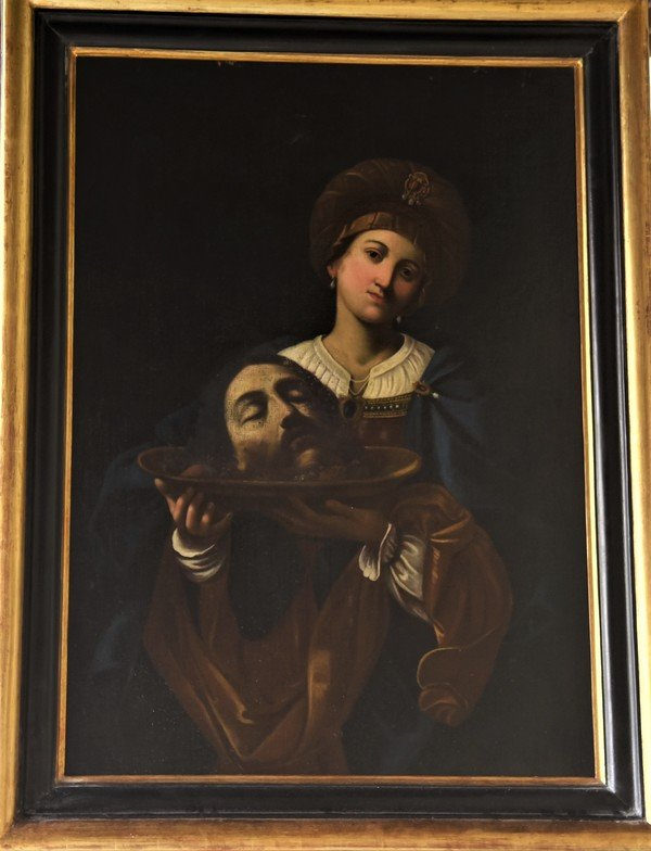 Salomè con la testa del battista ( olio su tela)