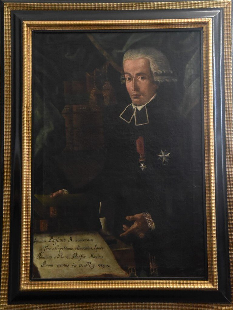 Antico dipinto del 1700